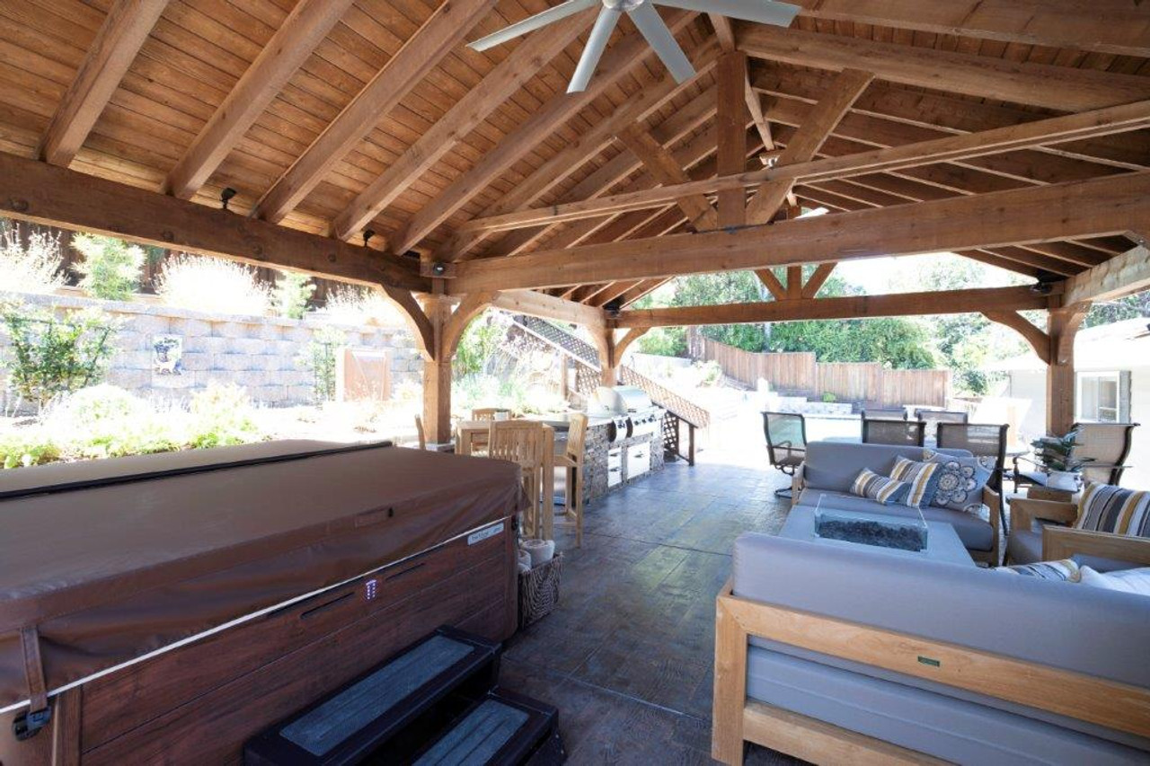 1x6 tongue and groove red cedar roof decking is standard