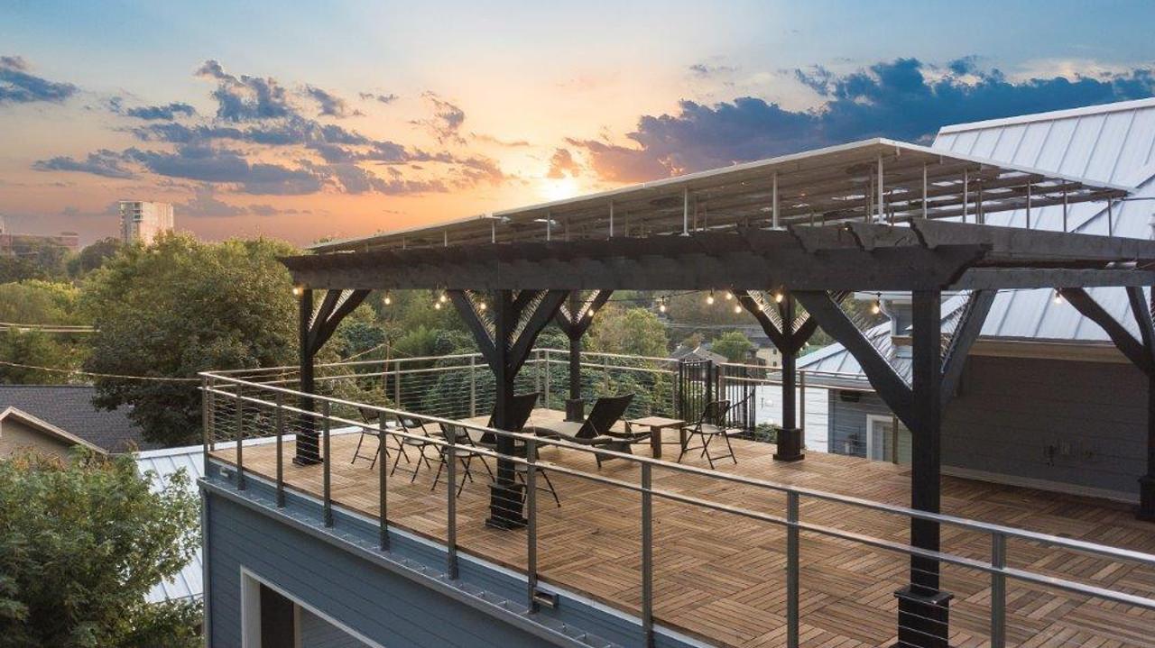 16x28 Solar Pergola, Western Red Cedar, Asheville, NC
