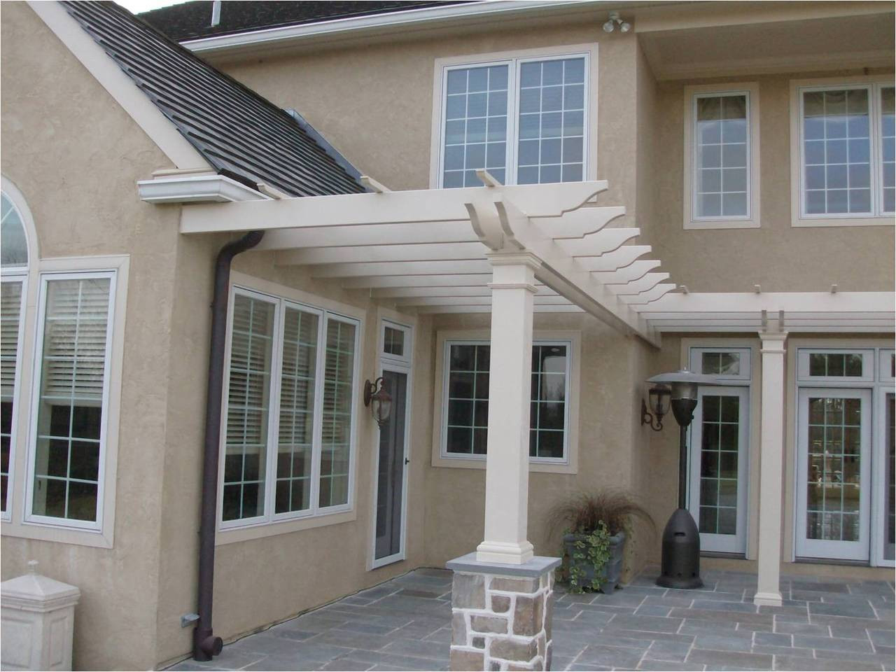 St. Lucia fiberglass pergola kit - custom job