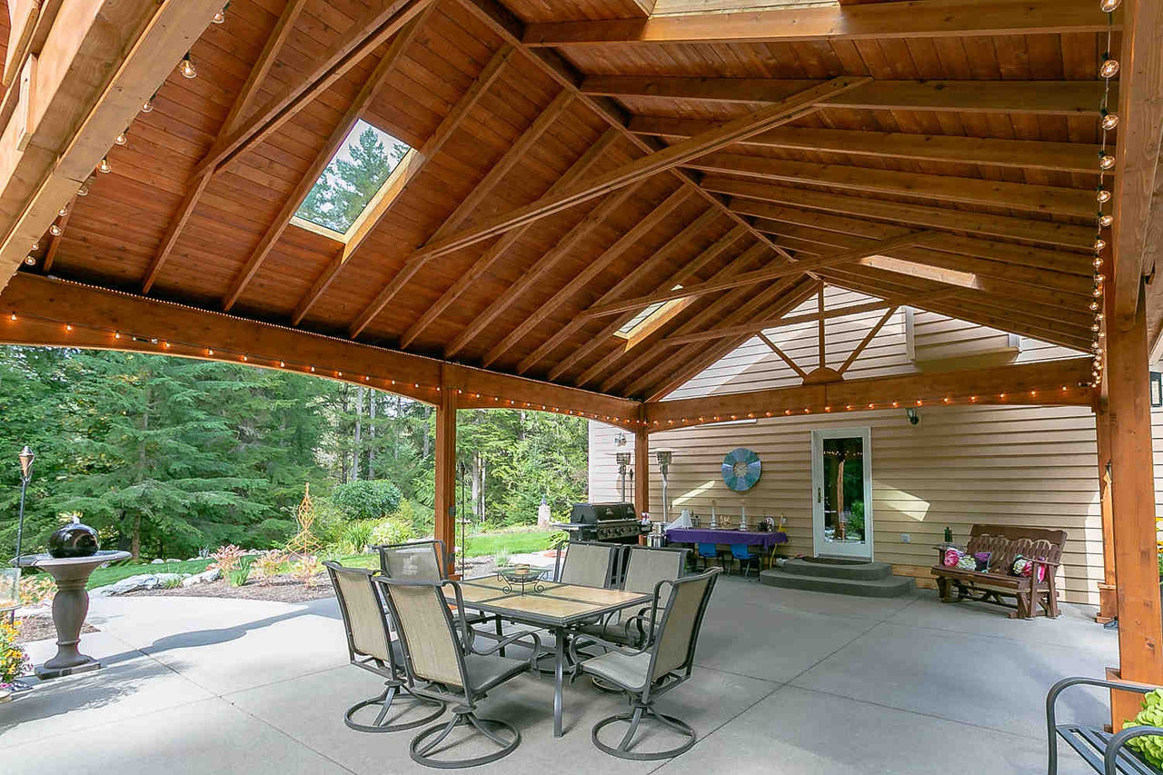 Tongue and Groove Roof on 22x28 Open Gable Cedar Pavilion, Duvall, WA