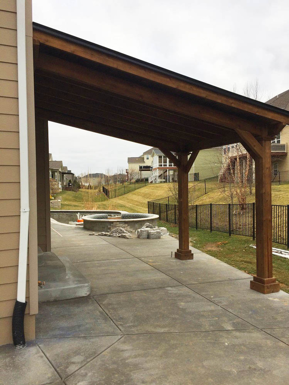 Structurally sound 12x9 Wall-mounted Western Cedar Pavilion