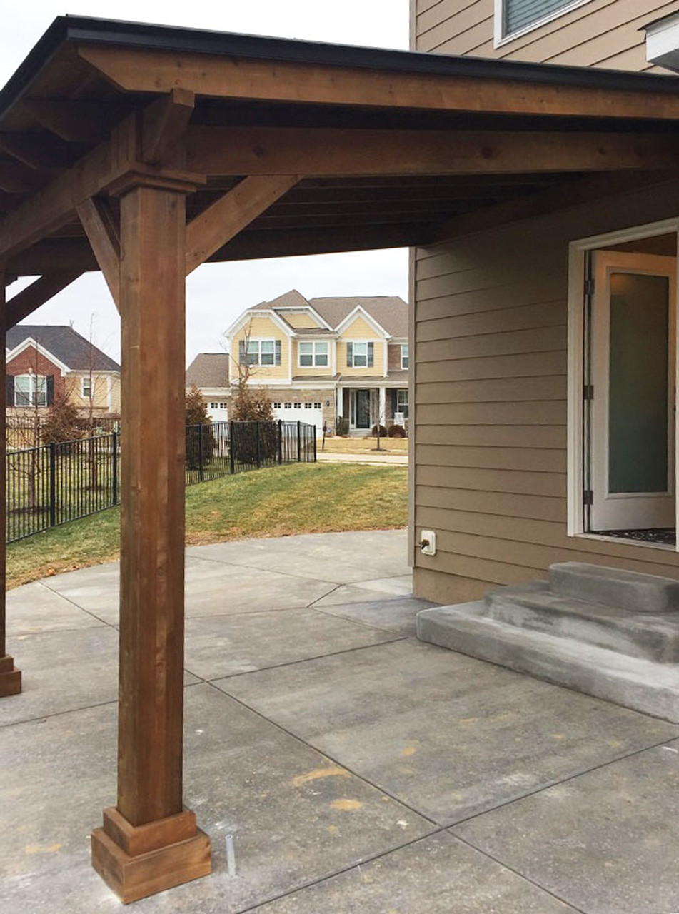 12x9 Wall-mounted Lean-To Western Cedar Pavilion Chesterfield MO