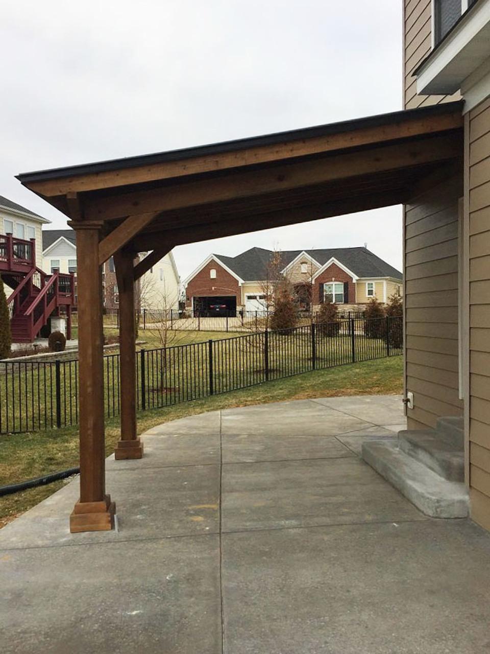 12x9 Wall-mounted Western Cedar Pavilion Chesterfield Missouri