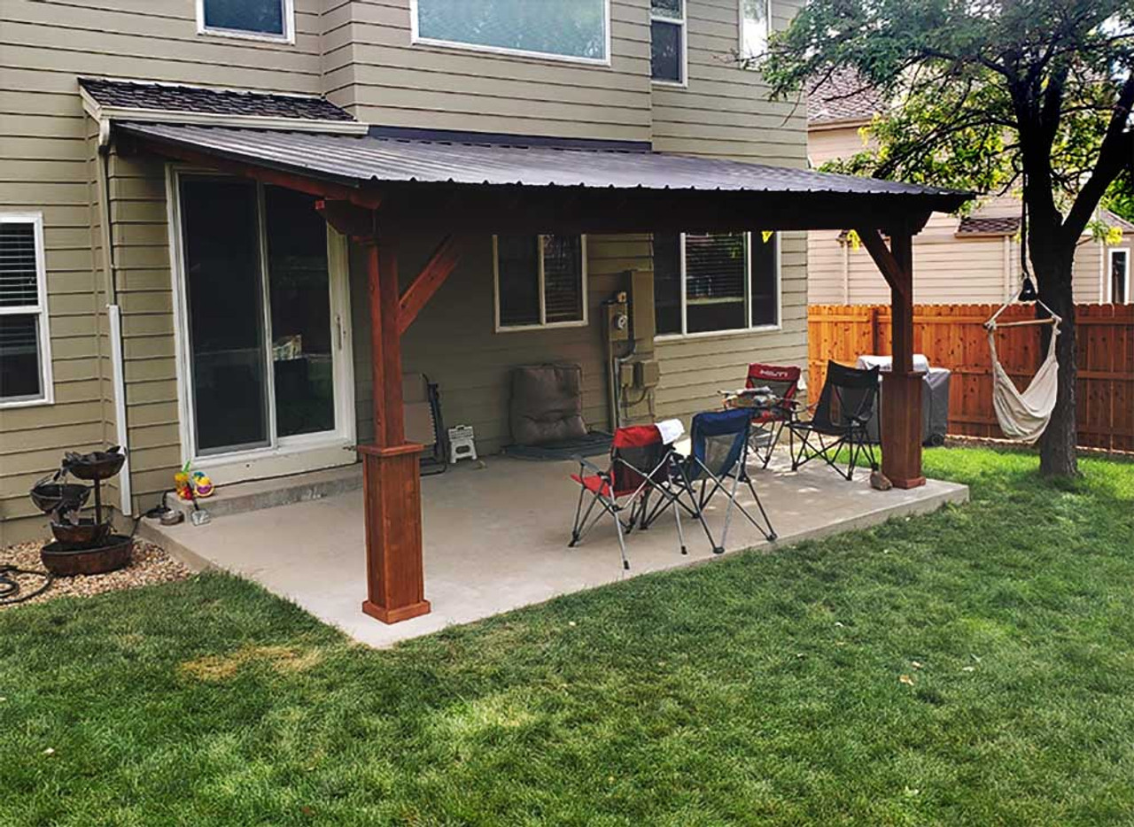 17x11 Wall-mounted Cedar Lean-To Pavilion Parker Colorado