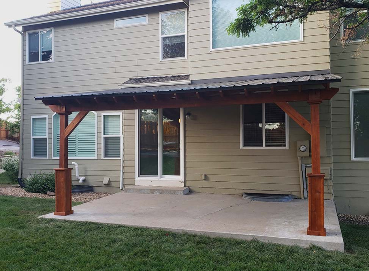 17x11 Wall-mounted Western Red Cedar Lean-To Pavilion Parker CO