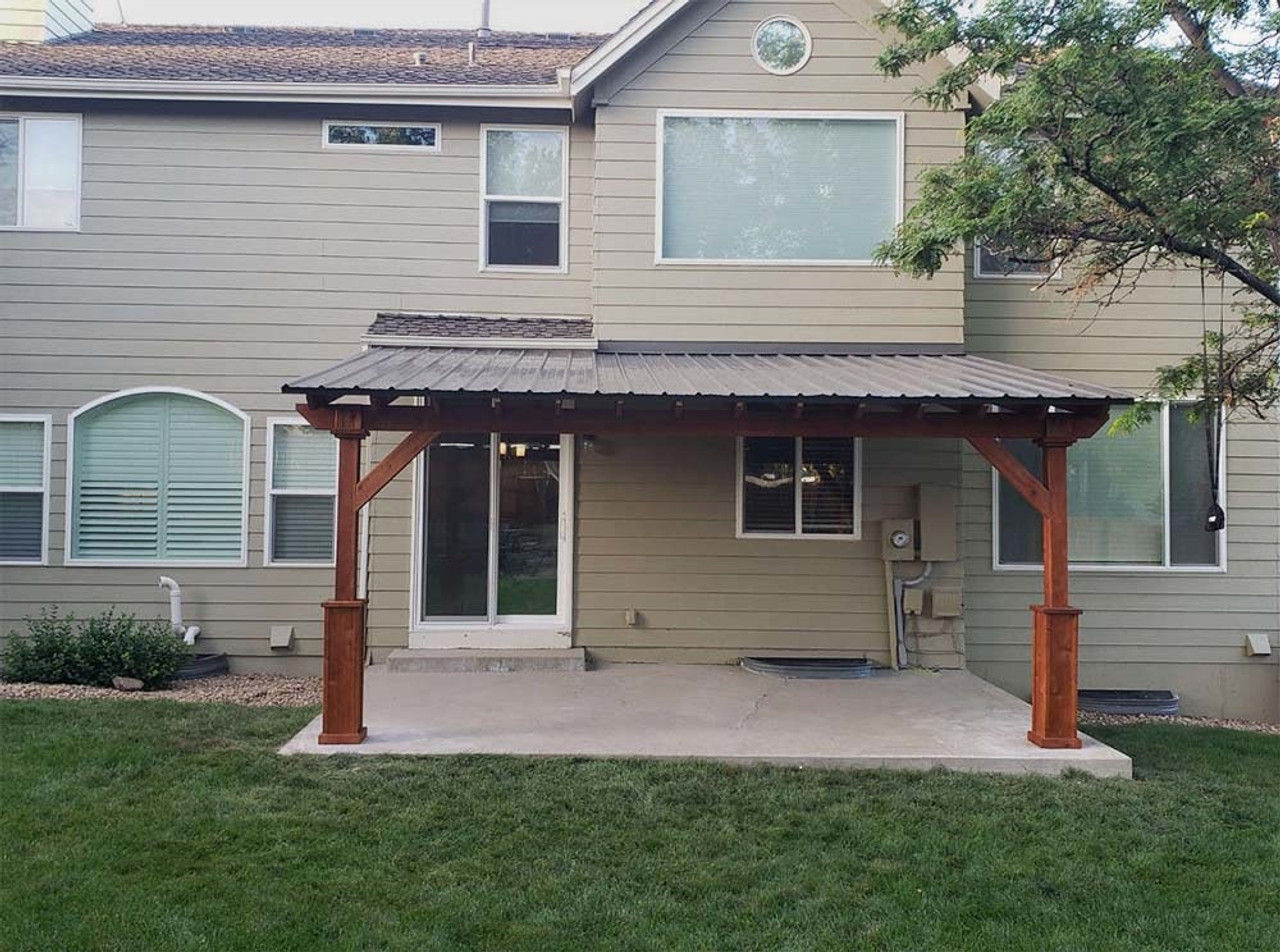 17x11 Wall-mounted Lean-To Pavilion Parker CO