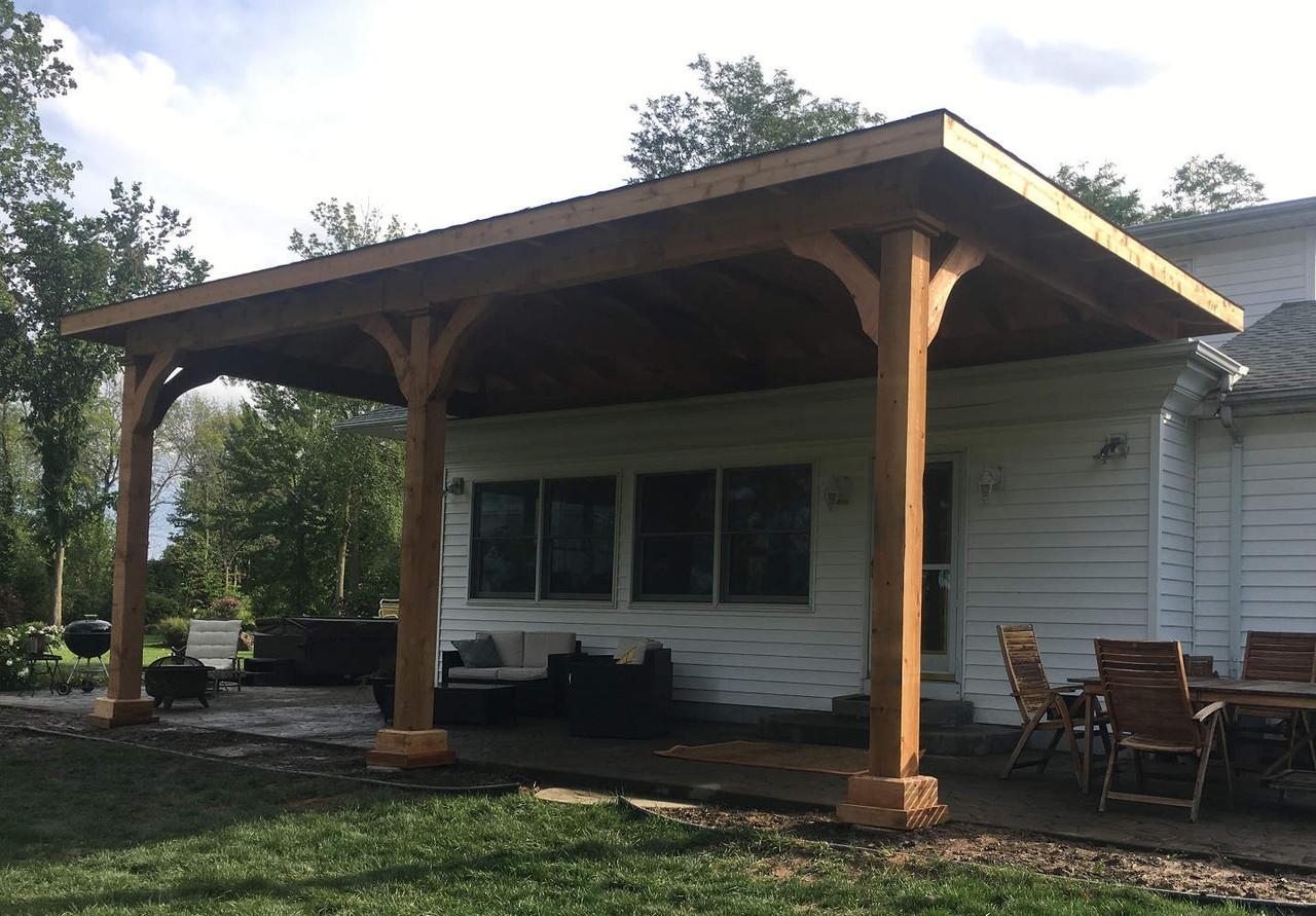 14x28 Grand Cedar Pavilion Kit, Lockport, NY