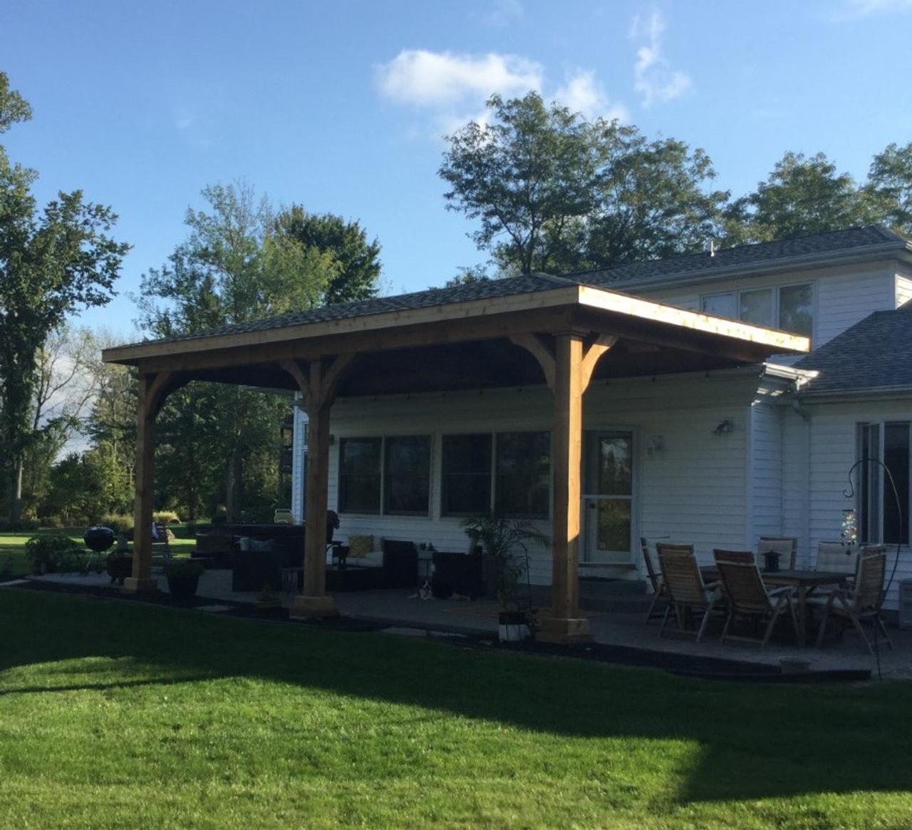 14x28 Grand Cedar Pavilion Kit, Lockport, New York