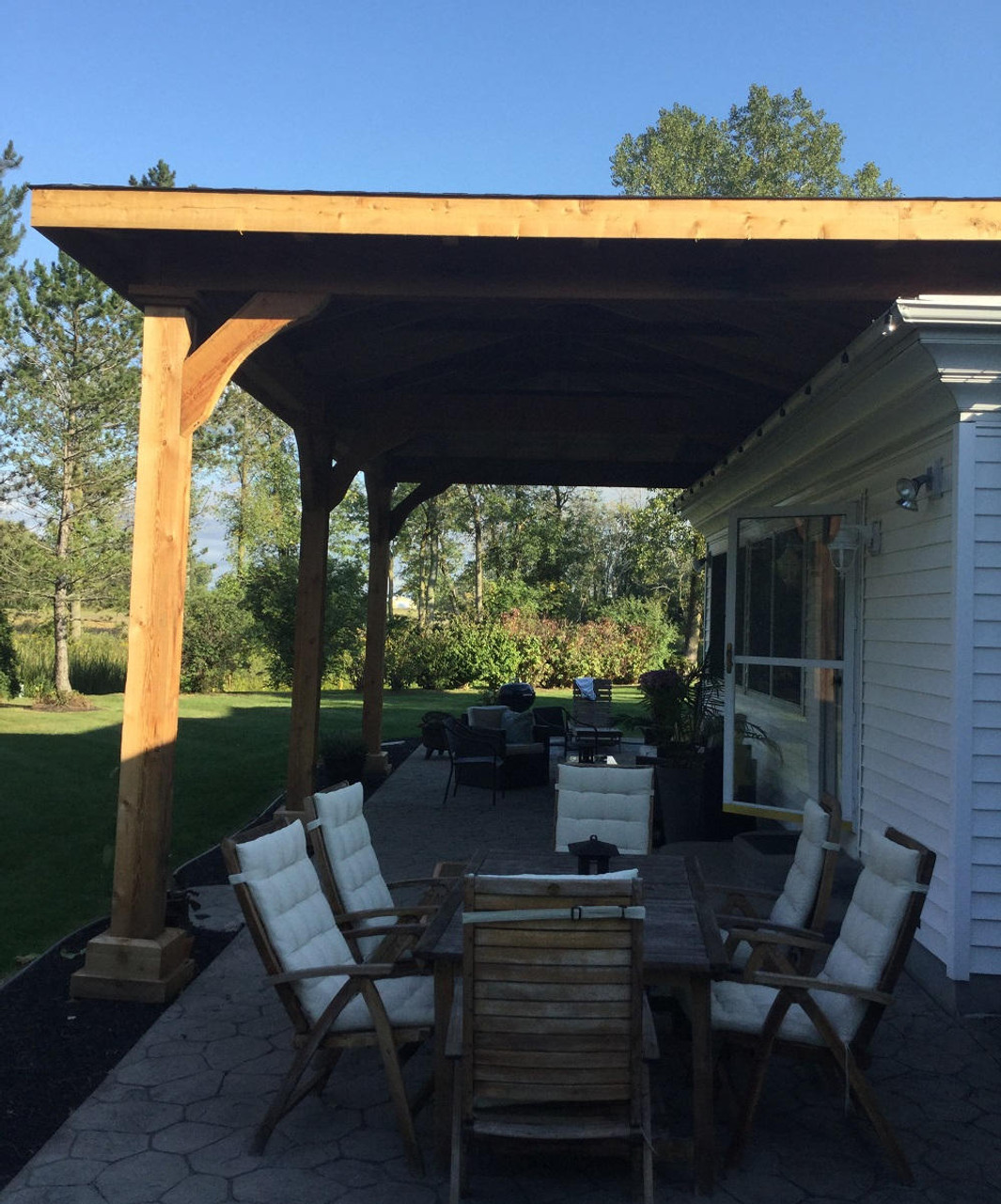 Smooth Sanded Western Red Cedar Patio Cover, Lockport, NY