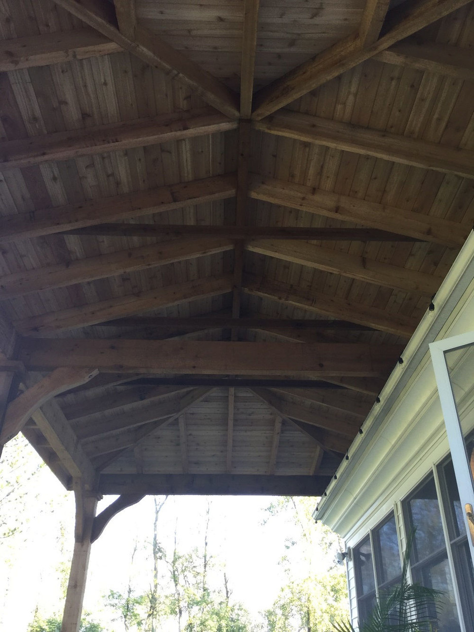 Underside of Hip Roof on Grand Cedar Pavilion, Lockport, NY