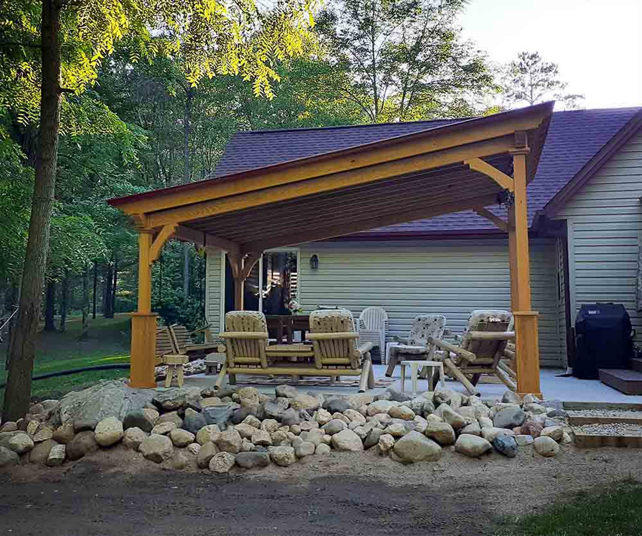 14x16 Lean-To Pavilion pressure treated pine Crivitz WI