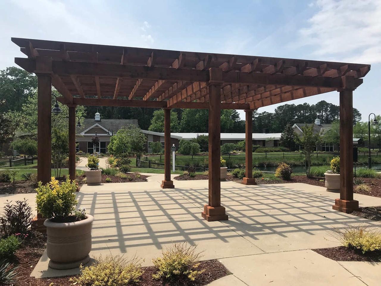 Rustic Cedar-Stained Homestead  Pergola, Yorktown, VA