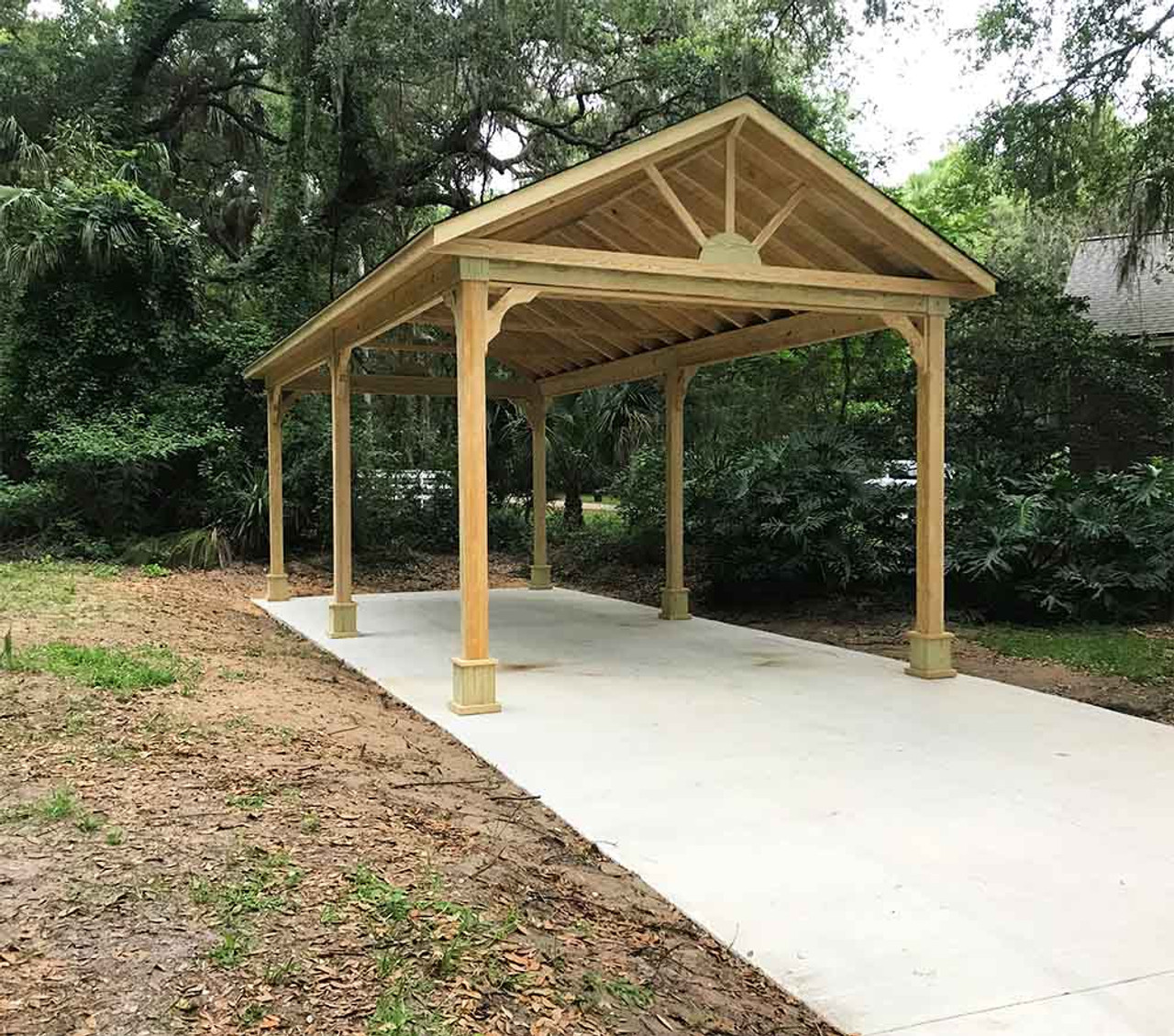 16x34 Pressure Treated Pine Gable Roofed Pavilion Vedra Beach Florida