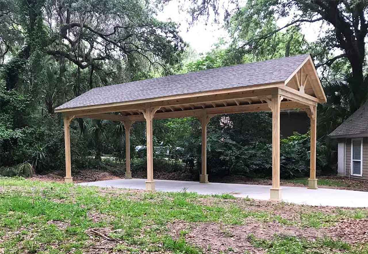 16x34 Pressure Treated Pine Gable Roofed Pavilion Vedra Beach FL
