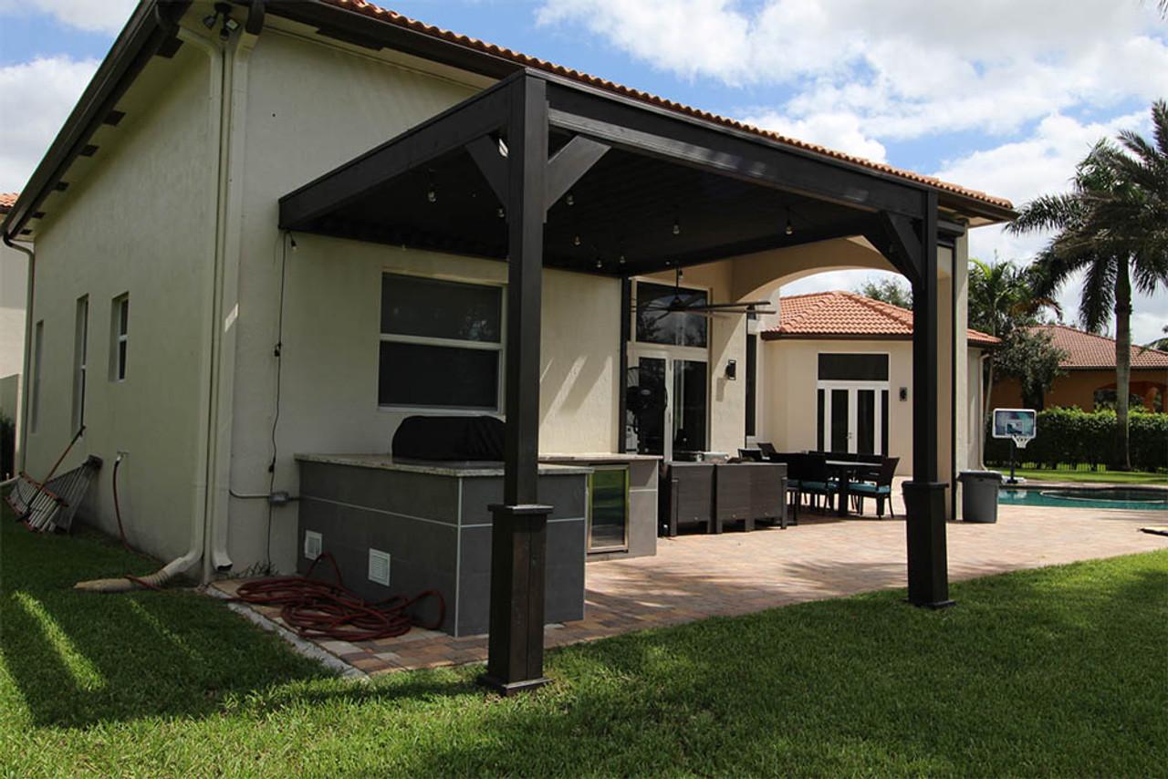 Sophisticated Modern Louvered Pergola Davie, Florida