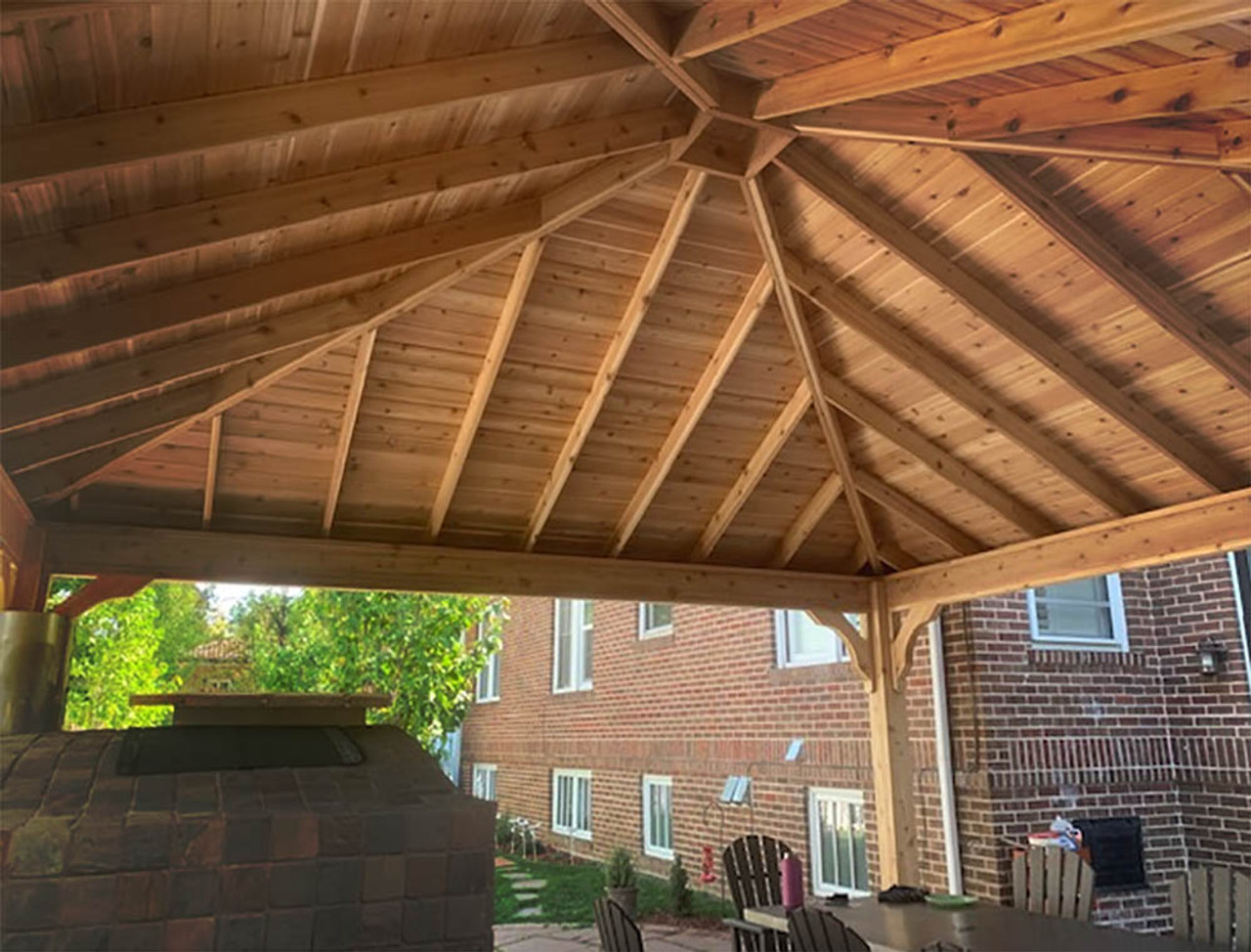 18x18 Western Red Cedar Traditional (Hip) Roof Denver CO