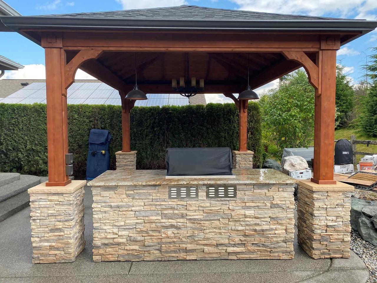 12x16 Traditional Roof Cedar Pavilion Kit, Redmond, WA