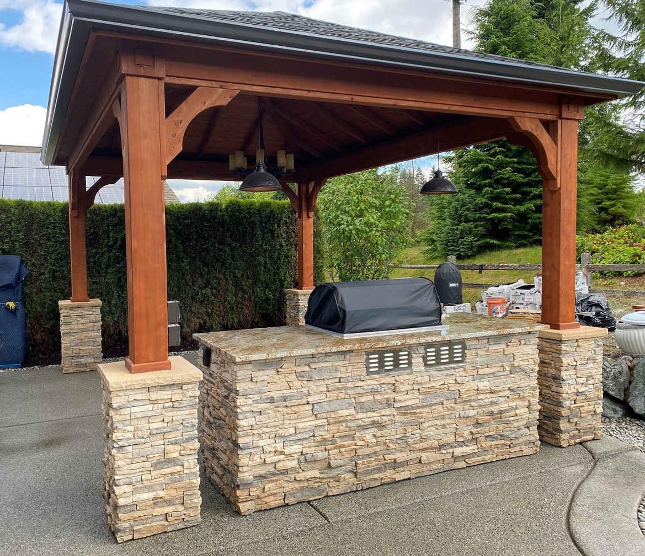 12x16 Traditional Roof Cedar Pavilion Kit, Redmond, Washington