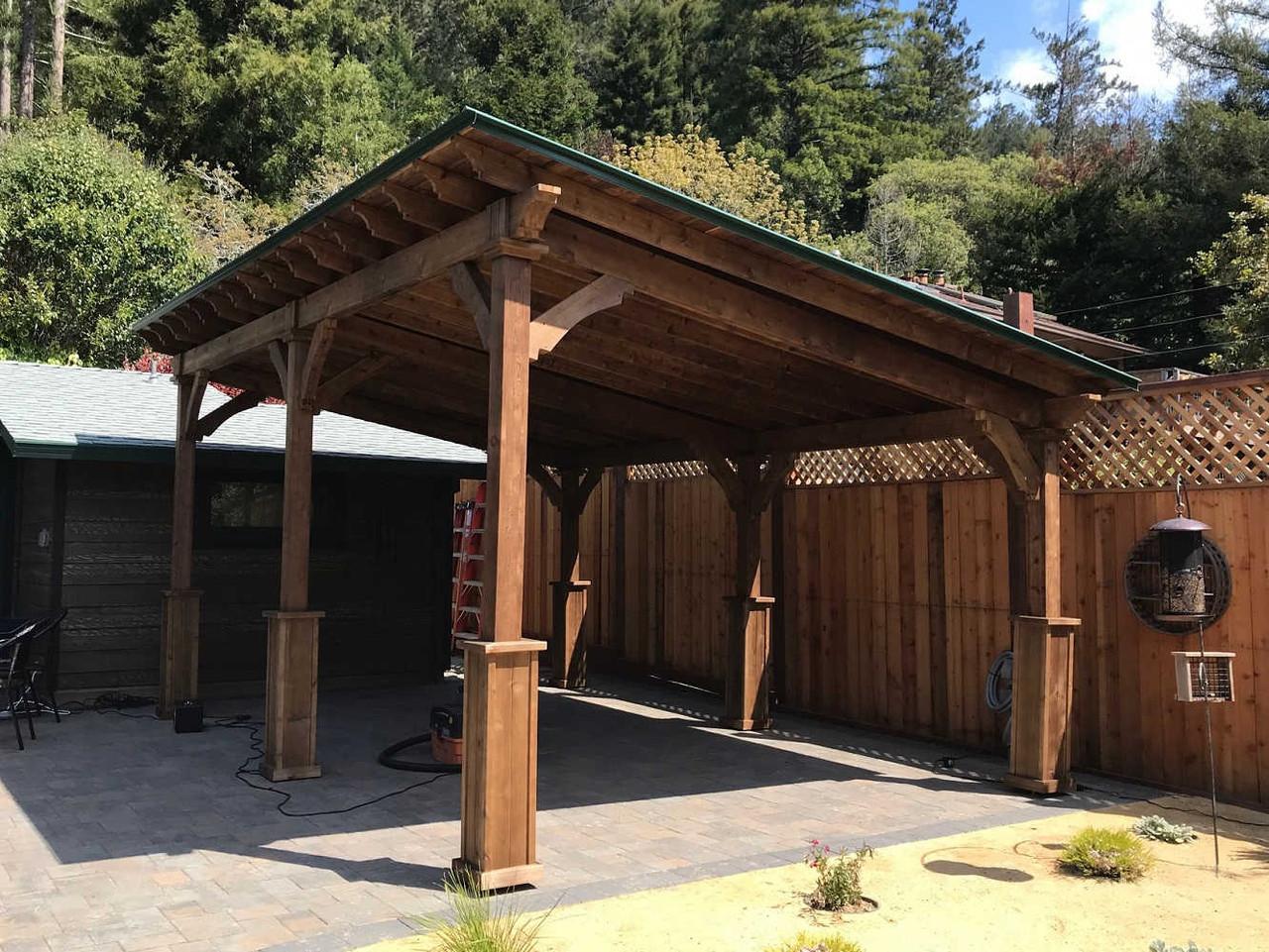 12x18 Lean-To Cedar Pavilion Kit, Guerneville, California