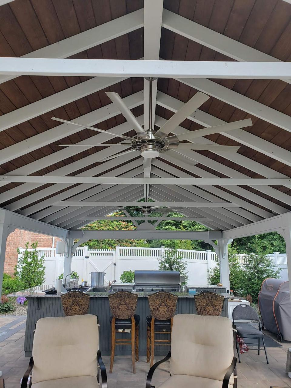 Interior of 16x30 Gable Roof Pavilion, Jenkins Township, PA