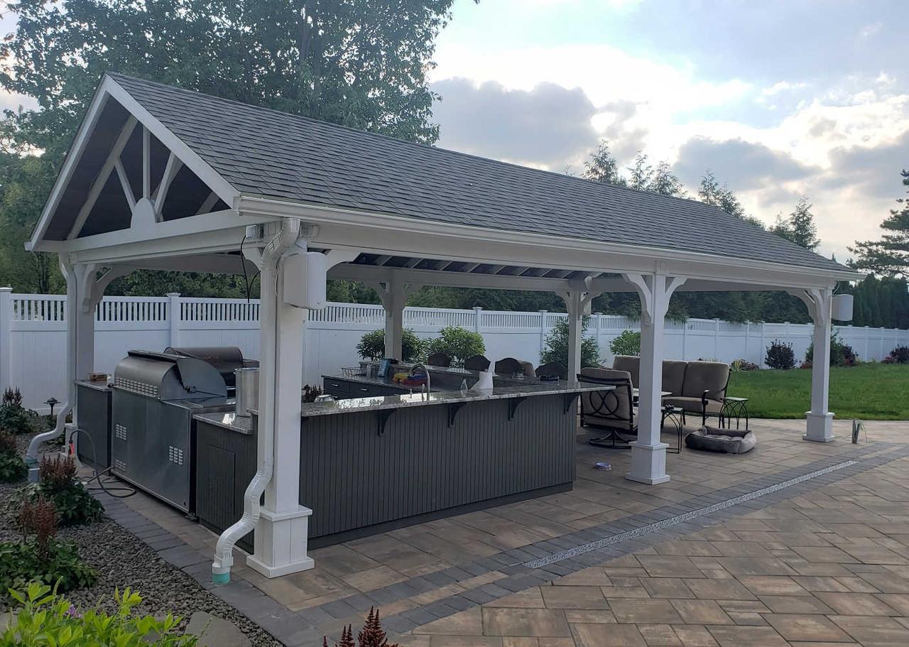 16x30 Gable Roof Pressure Treated Pine Pavilion Kit, Jenkins Township, Pennsylvania