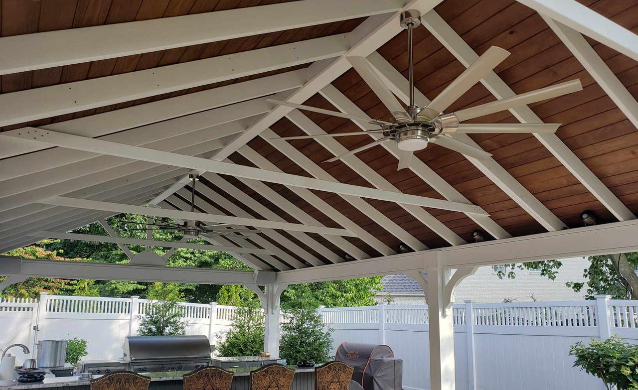 Underside of Open Gable Pressure Treated Pine Pavilion, Jenkins Township, PA