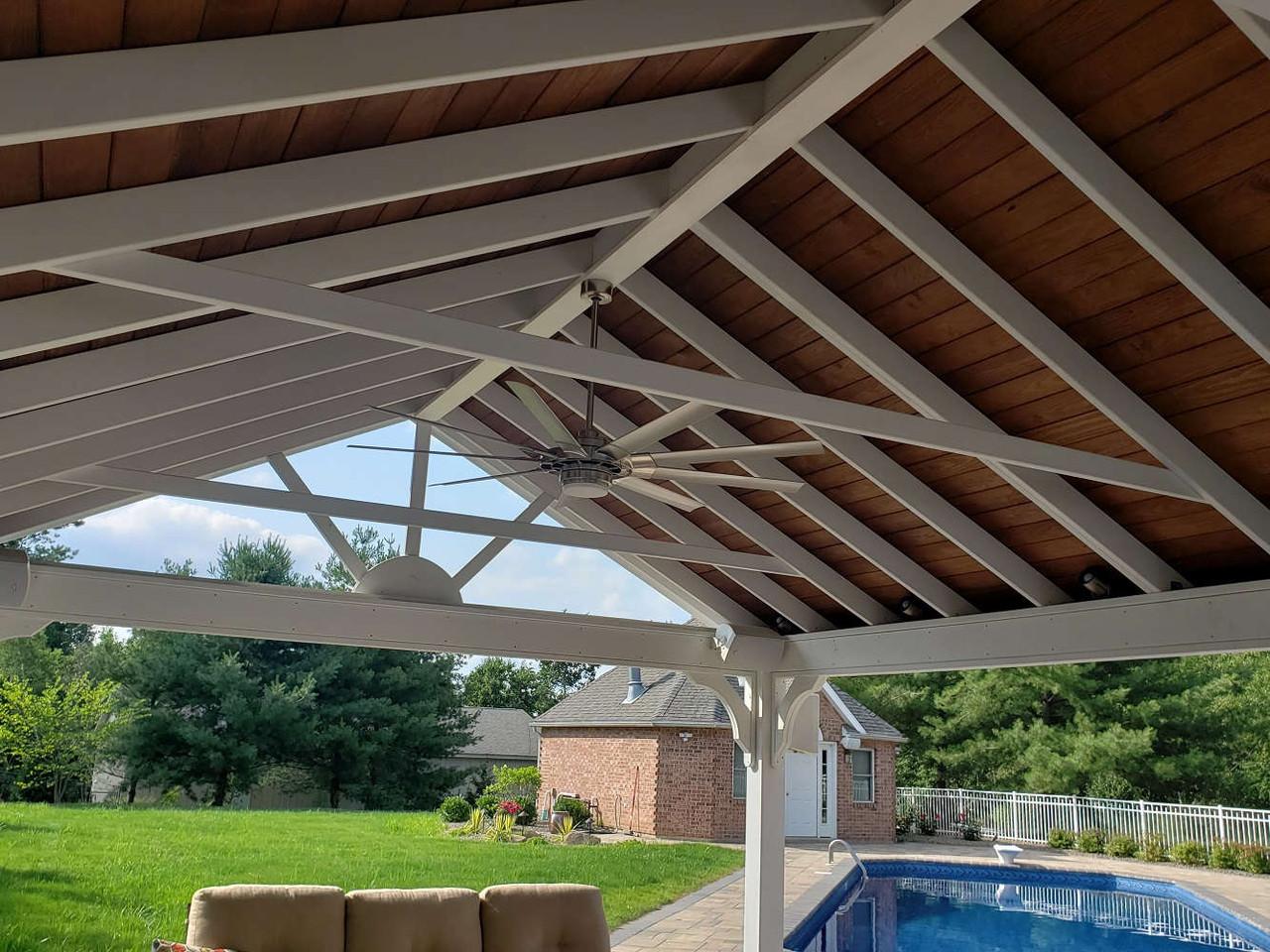 16x30 Gable Roof Pressure Treated Pine Pavilion Kit, Jenkins Township, PA