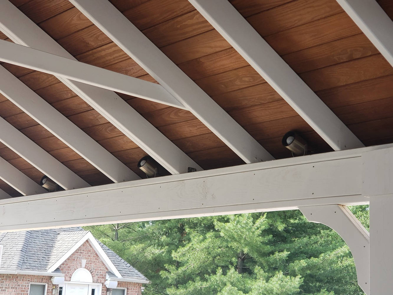 Nicely Contrasting Paint and Stain on Pressure Treated Pine Pavilion, Jenkins Township, PA