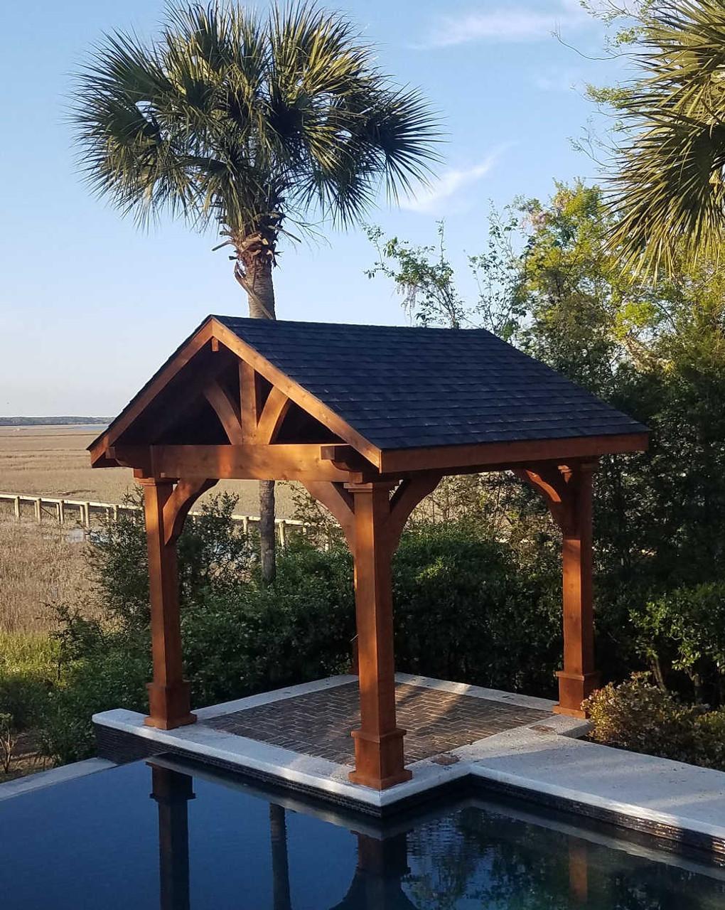 10x10 Grand Cedar Pavilion Kit, Sullivan's Island, South Carolina