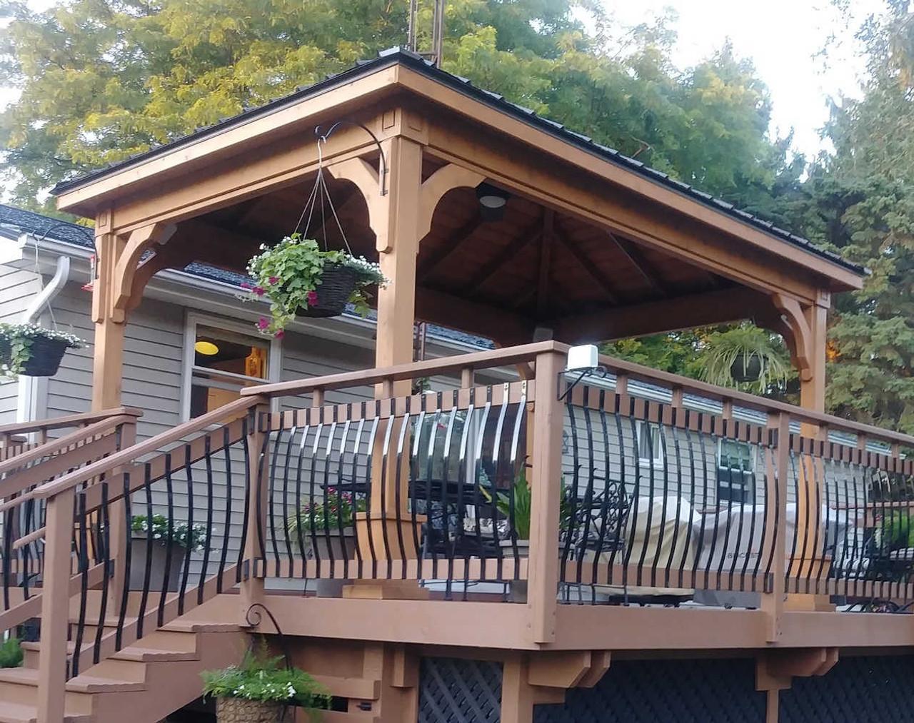 10x14 Traditional Roof Cedar Pavilion, Swartz Creek, Michigan