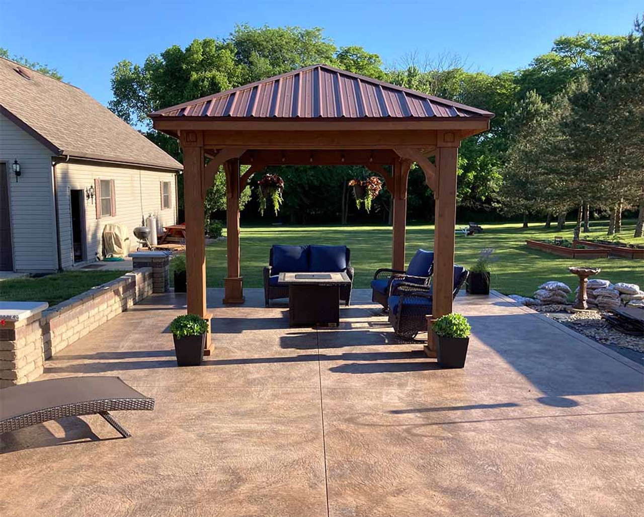10x12 Traditional(Hip) Cedar Pavilion St. Marys, Ohio