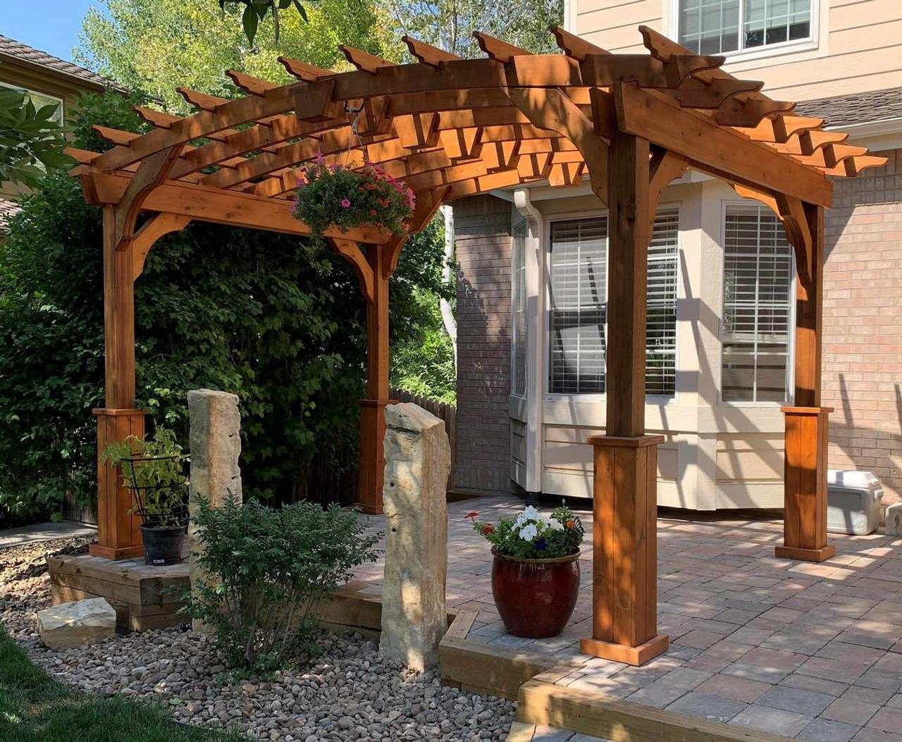 8x12 Arched Cedar Pergola Kit, Thornton, Colorado