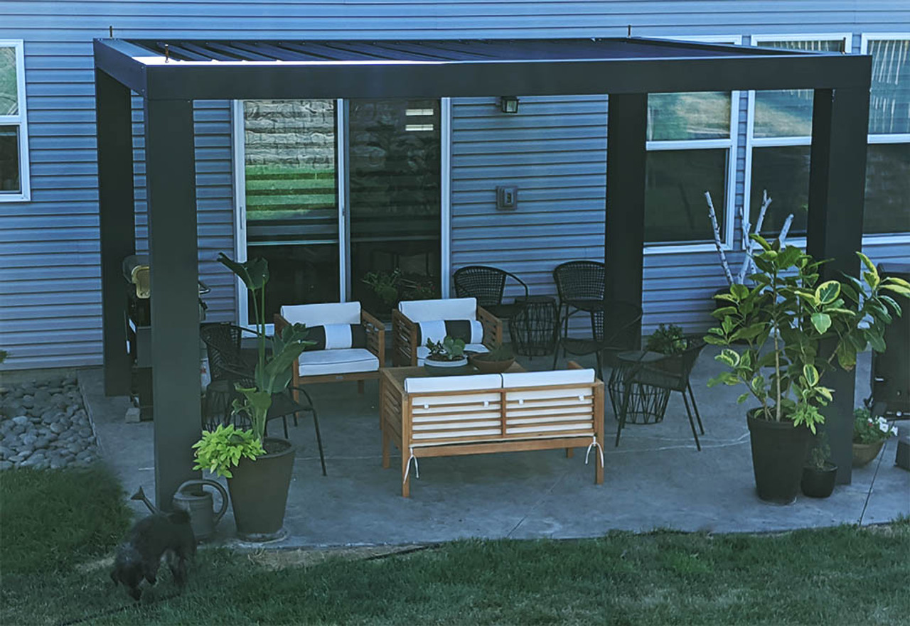 14x12 Modern Freestanding Fiberglass Pergola Papillion, Nebraska