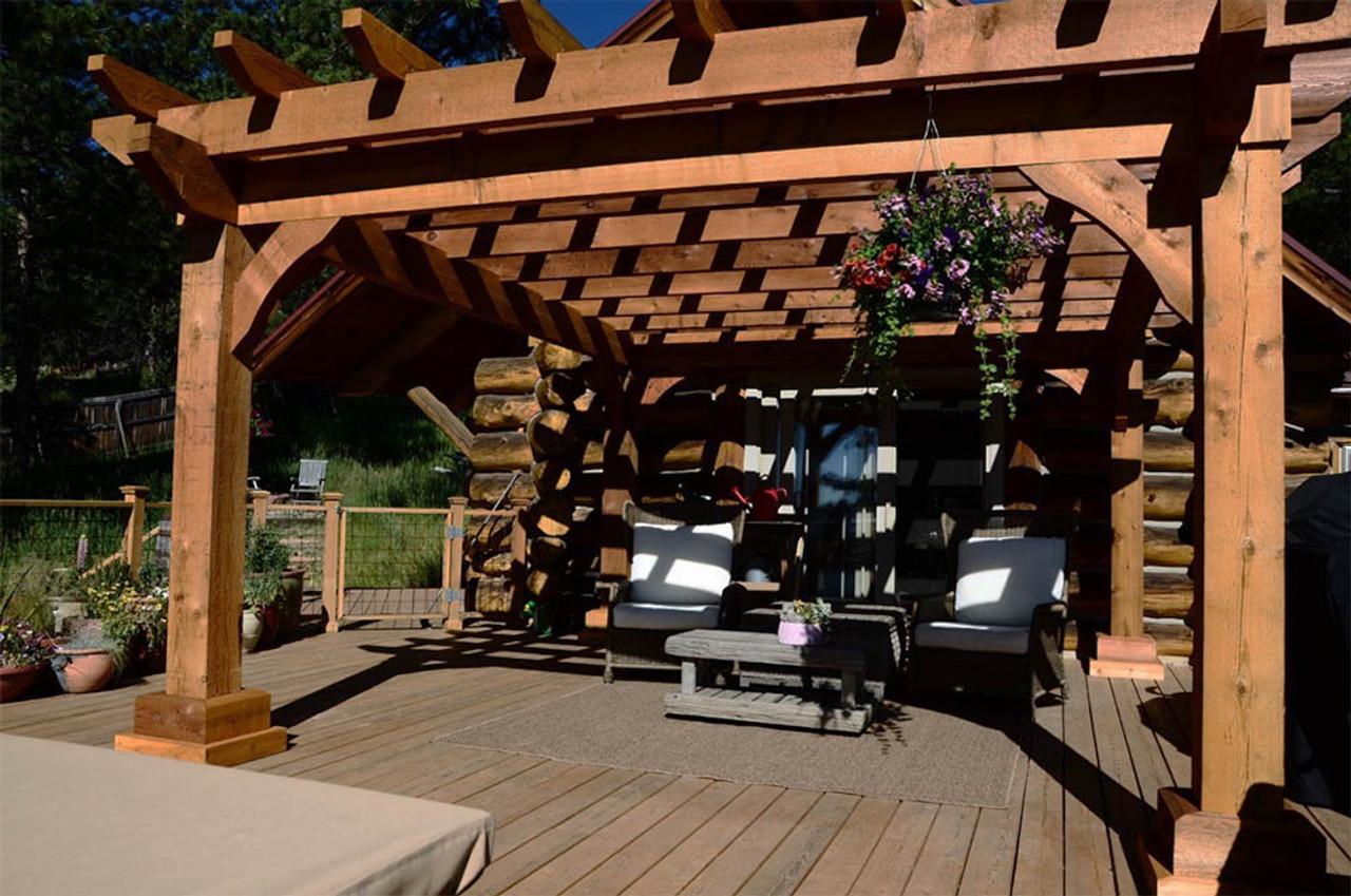 15x12 Homestead Rough Sawn Cedar Pergola Golden Colorado
