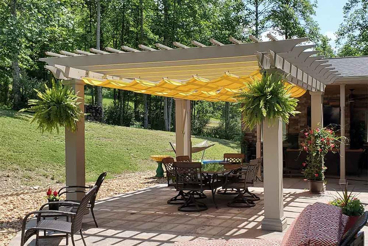 14x12 Fiberglass Pergola with Retractable Canopy Elkins, West Virginia