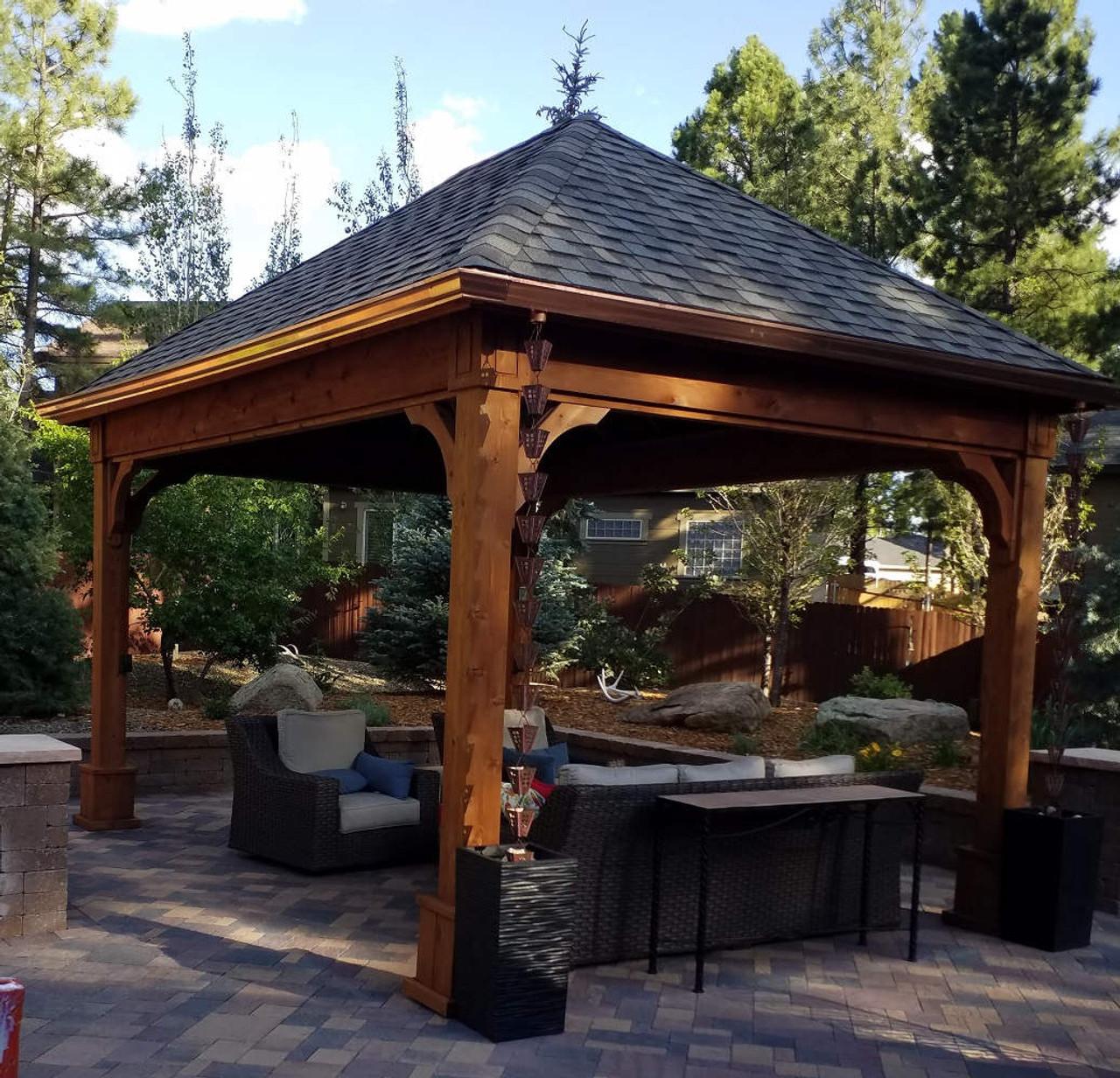 12x16 Traditional Roof Cedar Pavilion, Flagstaff, Arizona