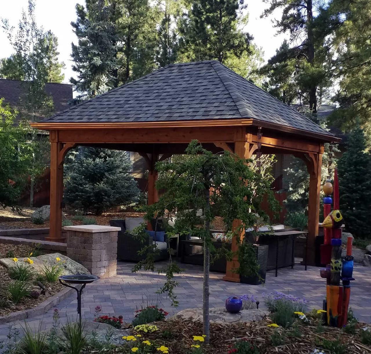 12x16 Traditional (Hip) Roof Cedar Pavilion, Flagstaff, AZ