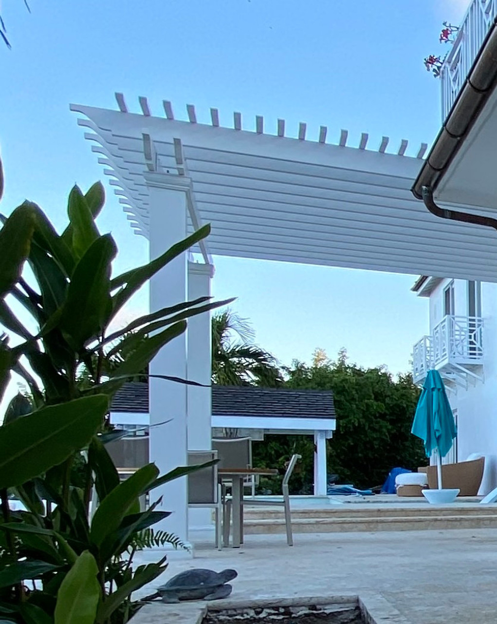 14x16 Wall Mounted Structural Fiberglass Pergola Kit, Jacksonville, FL