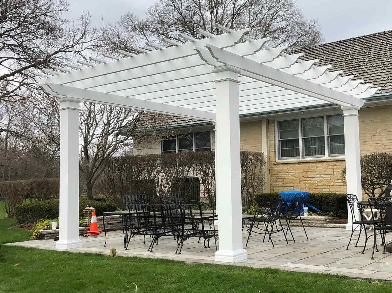 19x16 Freestanding Structural Fiberglass Pergola Kit, Kankakee, Illinois