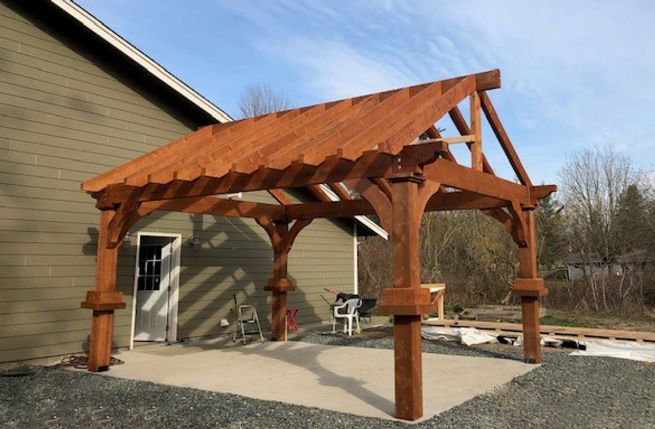14x18 Grand Cedar Open Gable Pavilion Nooksack Washington