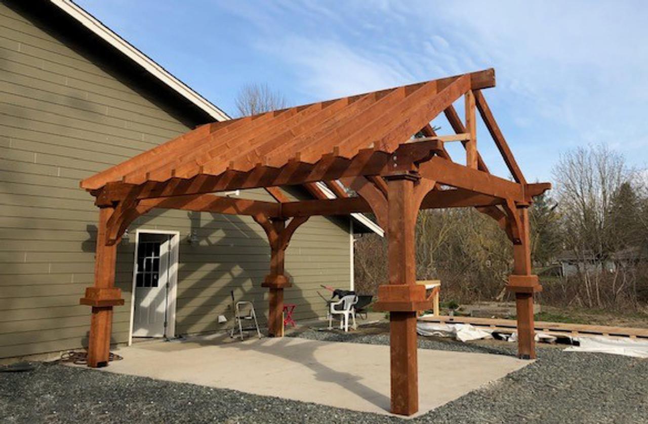 14x18 Grand Cedar Open Gable Pavilion Nooksack, WA