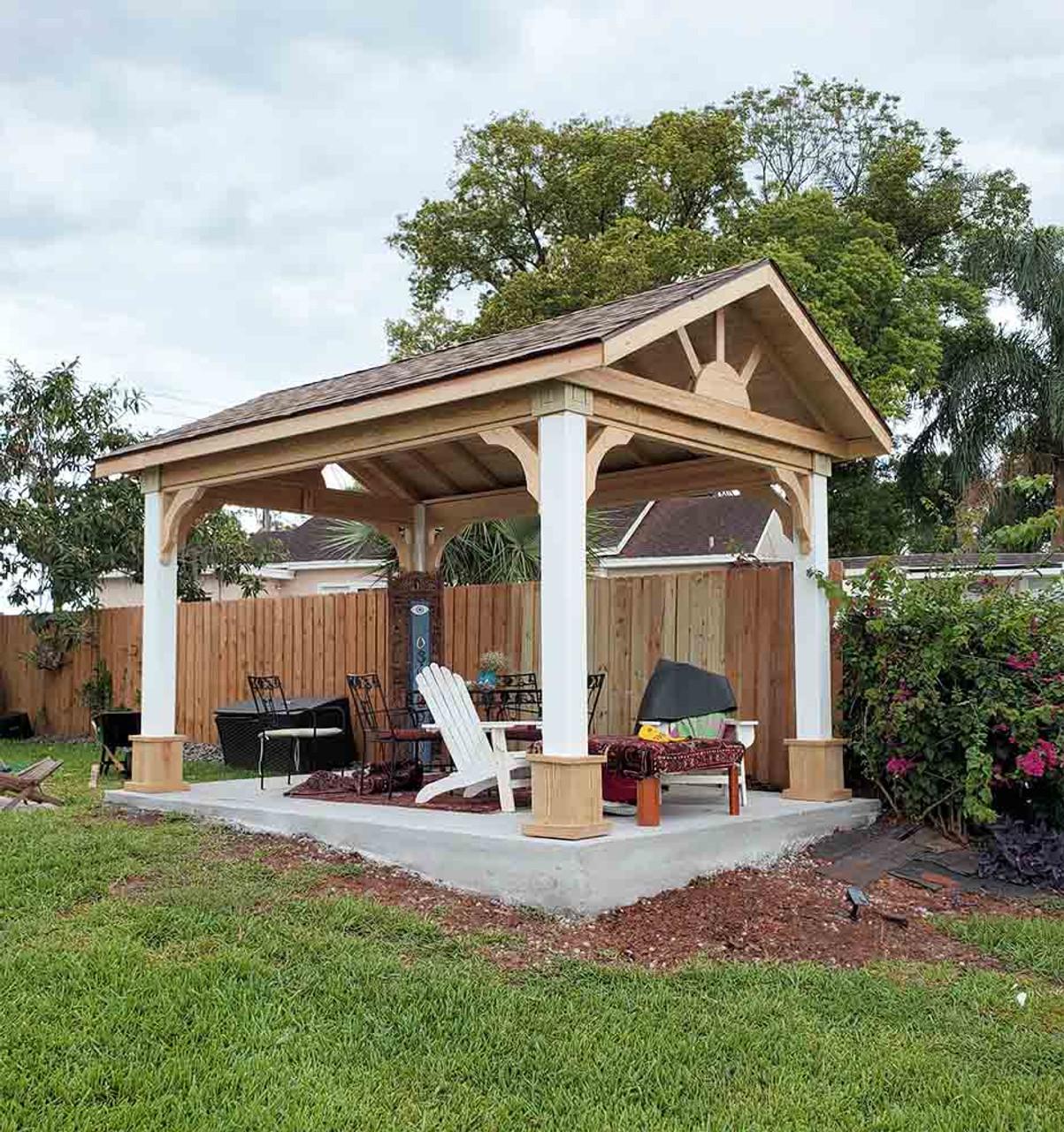 10x14 Open Gable Pressure Treated Pine Pavilion Orlando Florida