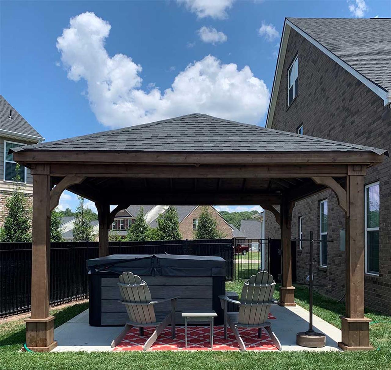 14x14 Cedar Traditional (Hip) Pavilion Murfreesboro TN
