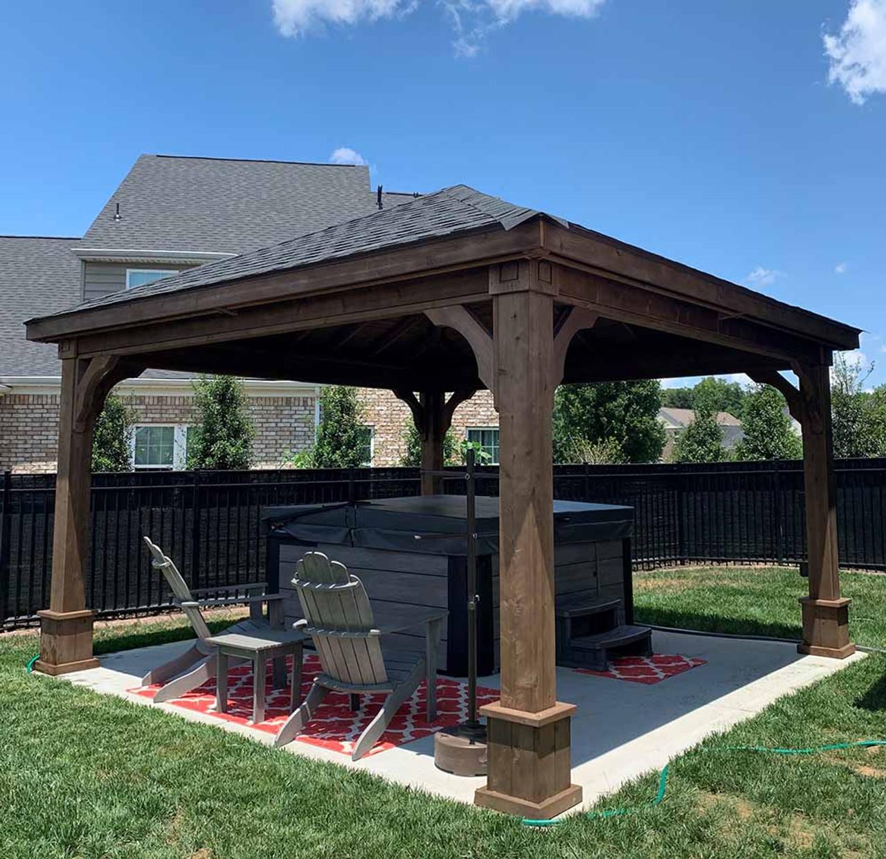 14x14 Cedar Traditional (Hip) Pavilion Murfreesboro Tennessee