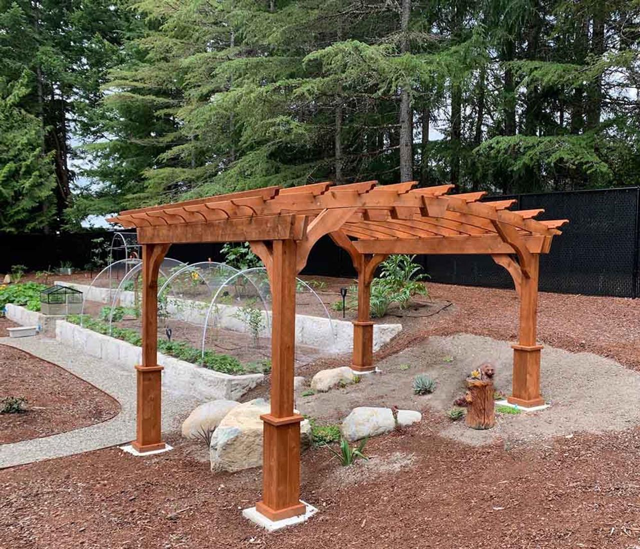 10x10 Arched Cedar Pergola Olympia Washington