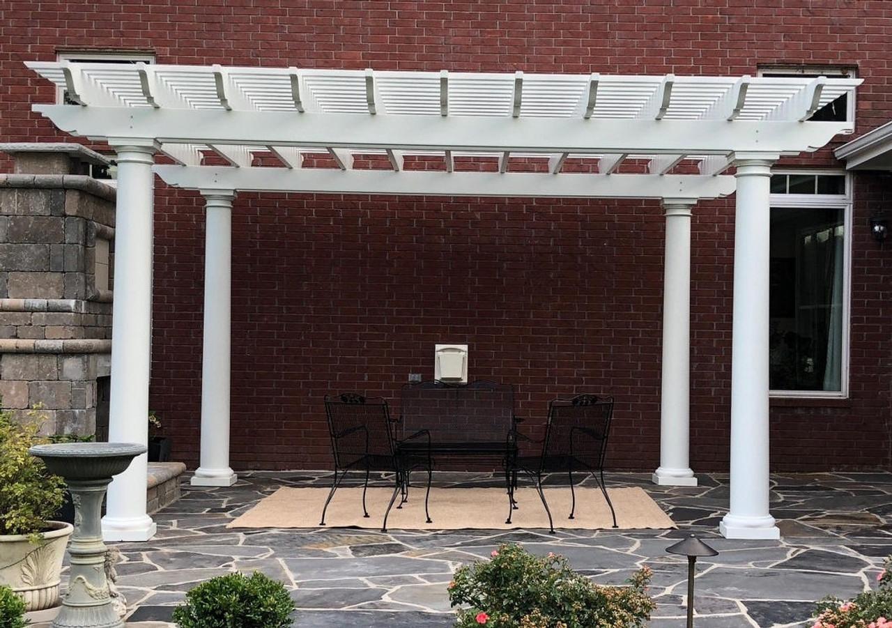 17x14 Freestanding Structural Fiberglass Pergola, Cabot, AR