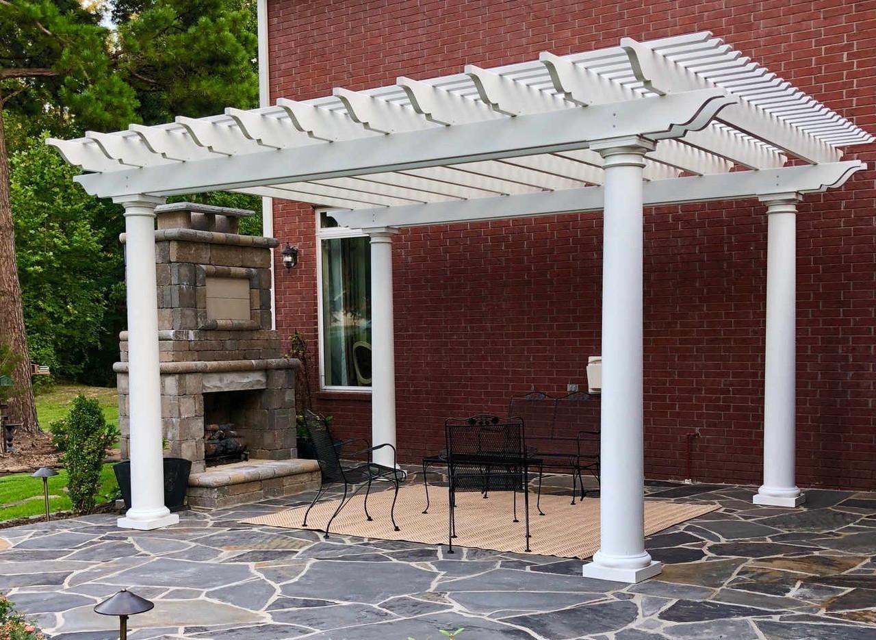 17x14 Freestanding Structural Fiberglass Pergola, Cabot, Arkansas