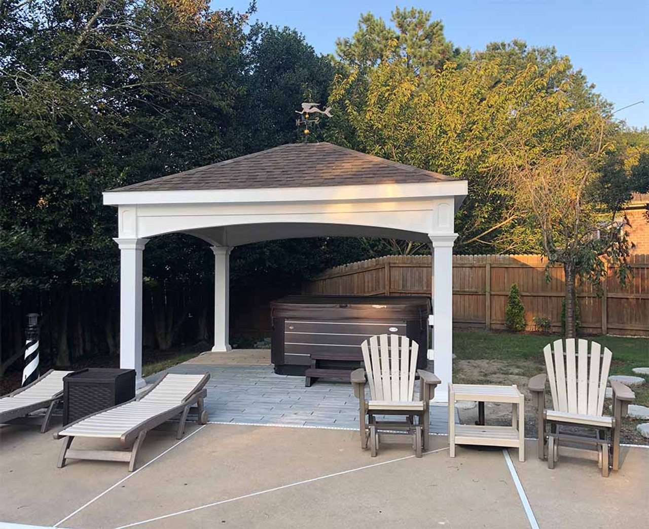 12x14 Traditional (Hip) Vinyl Pavilion at Sunset Chesapeake, Virginia