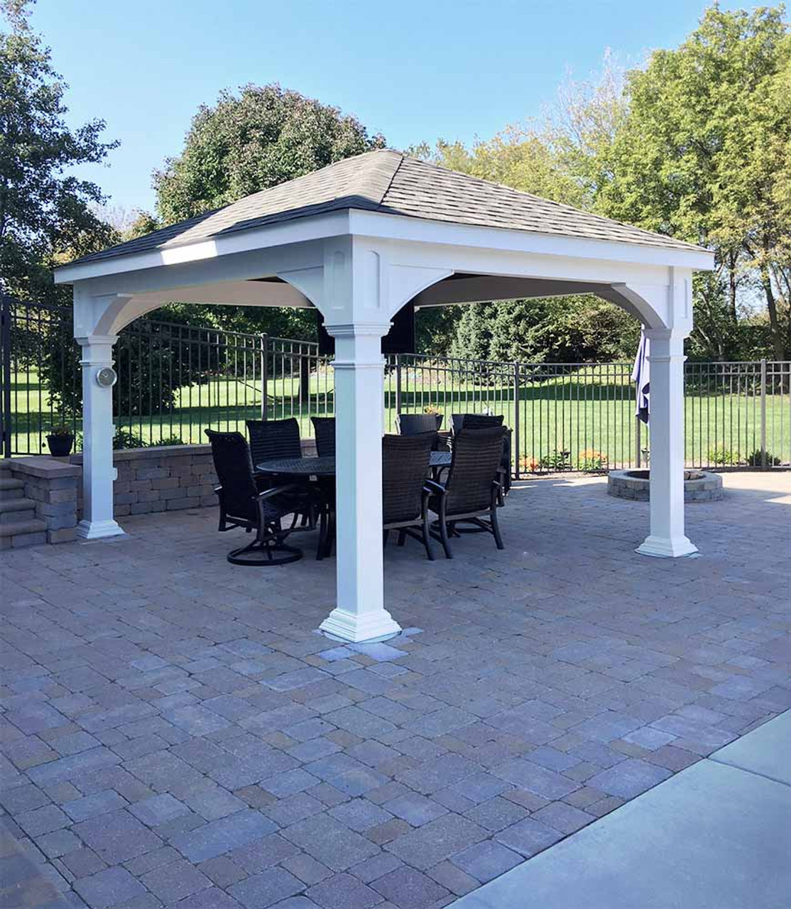 12x14 Vinyl Traditional (Hip) Pavilion Cary, Illinois