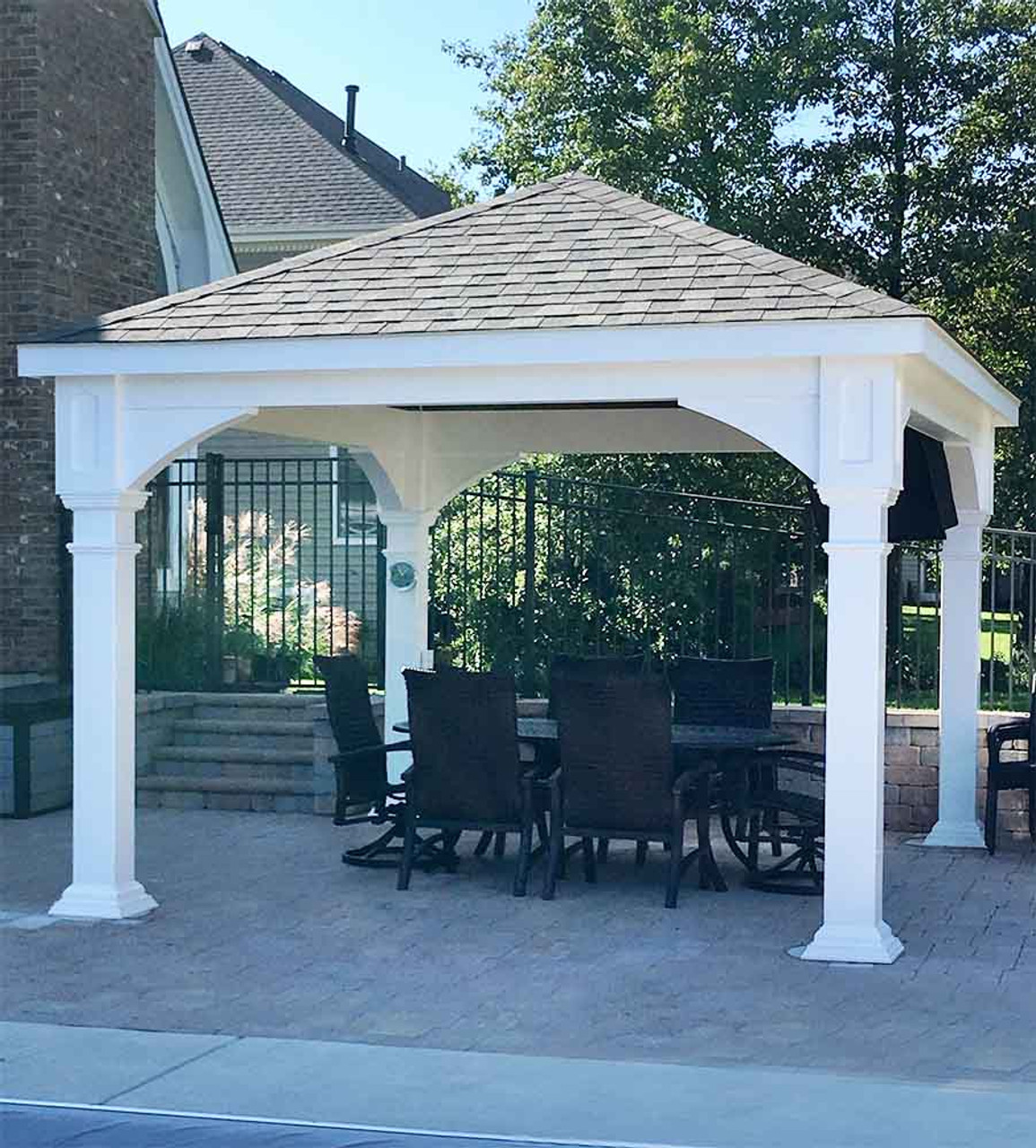 12x14 Vinyl Traditional (Hip) Pavilion Outdoor Entertaining Cary, IL